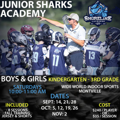 Junior Sharks Academy Training (K-3 Boys & Girls)